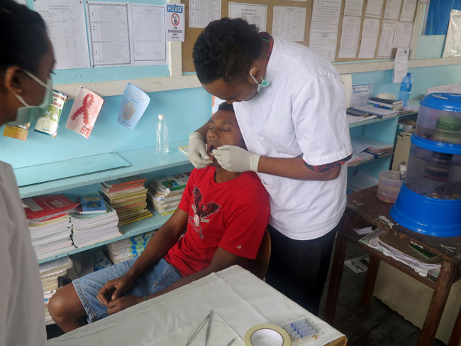 Dental care for needy patient