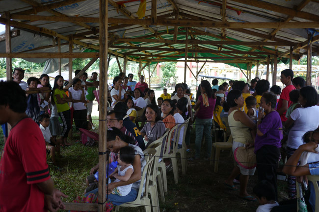 Philippines - Dulag Medical Camp - Patients at medical camp