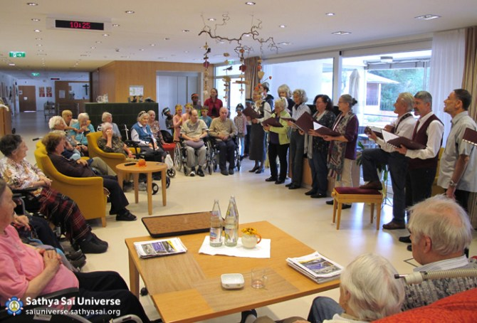 Entertainment at a home for the elderly