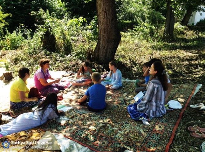 Human Values Classes at Family Camp