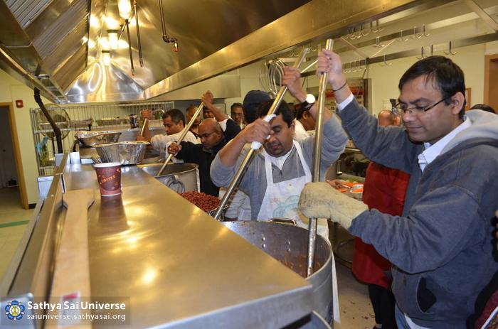 Preparing food for the needy