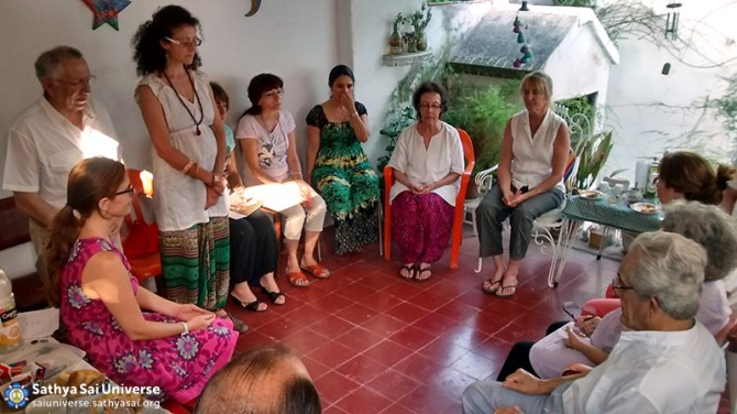Sai mobile Group meeting  in -La Falda-, Argentina,  Zone 2B on August 2014