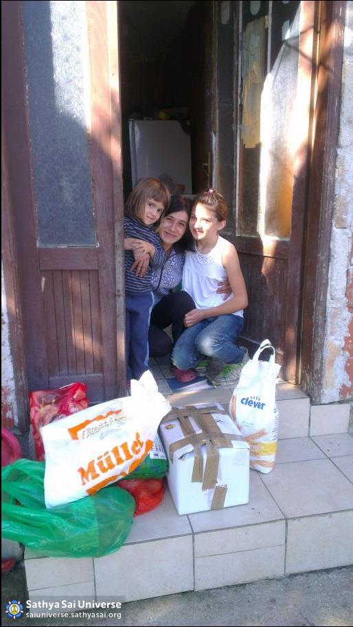 Grateful recipients of aid