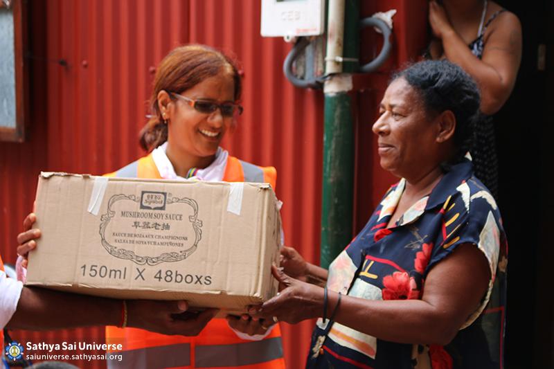 Mauritius Relief Happy recipient