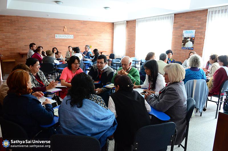 Study circles at the Sai Pre-World Conference