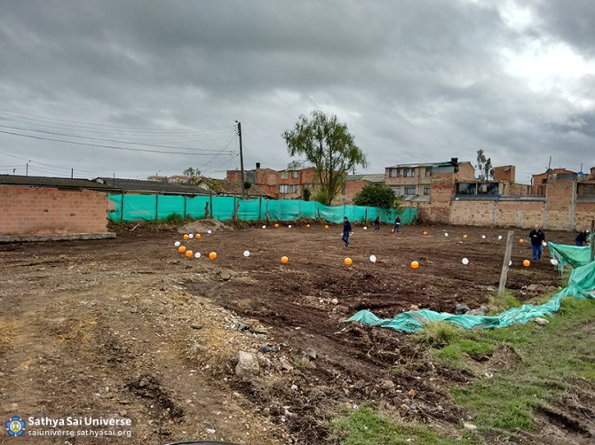 Site of new Sathya Sai school headquarters Funza, Bogota, Colombia