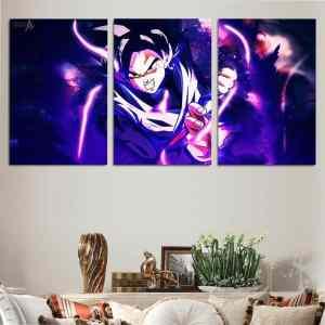 DBS Powerful Goku Black Purple 3pcs Wall Art Canvas Print