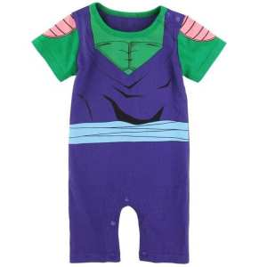 DBZ Piccolo's Body Suit Cosplay Short Sleeve Baby Jumpsuit