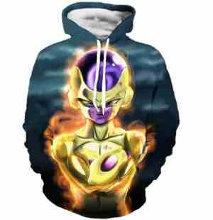 Bad Golden Frieza Goruden Furiza Ultimate Form 3D Hooded Sweatshirt - Saiyan Stuff