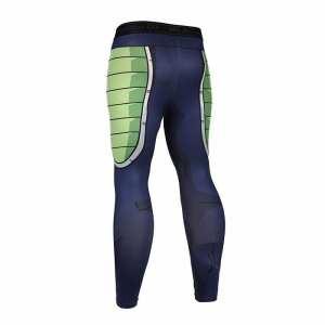 Bardock Armor Green Black Waist Fitness Gym Compression Leggings Pants - Saiyan Stuff - 2
