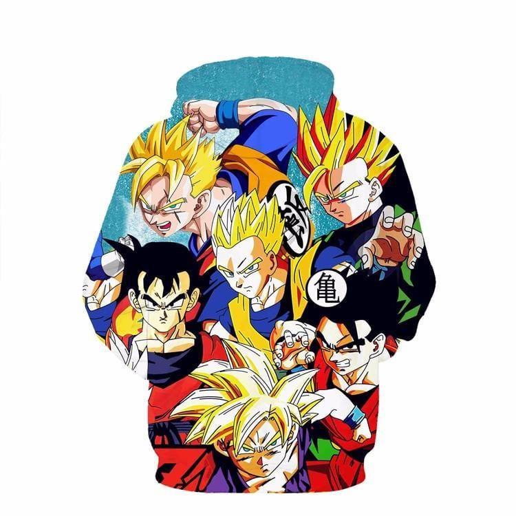 Classic Dragon Ball Z Son Gohan Character Stylish Cool 3D Hoodie - Saiyan Stuff - 2