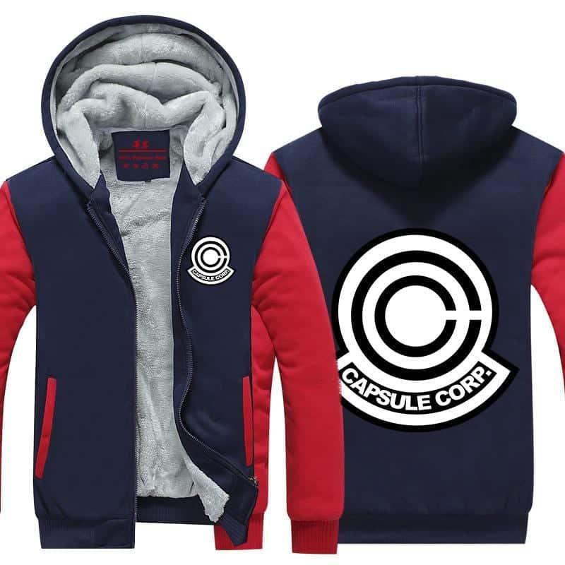 DBZ Capsule Corp Red & Blue Stylish Zip Up Hooded Jacket