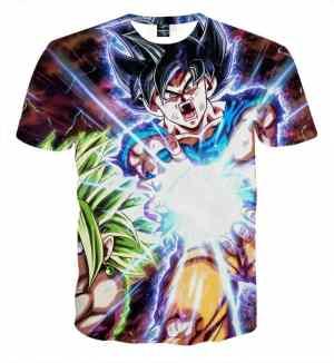 Dragon B Z Son Goku Powerful Kamehameha Released T-Shirt