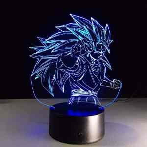 Dragon Ball Super Saiyan 3 Vegito Color Changing Acrylic Panel Lamp