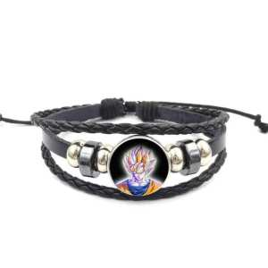 DBZ Son Goku SSJ Yellow Aura Bangle Braided Bracelet