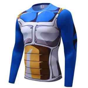 Vegeta Cell Saga Battle Saiyan Armor Long Sleeves Compression 3D Shirt