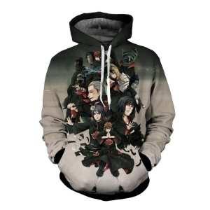 Naruto Anime Evil Pain Nagato Akatsuki Clan Gray Ombre Hoodie