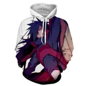 Naruto Japanese Anime Madara Uchiha Fan Art Print Hoodie