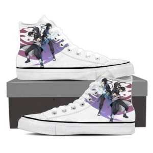 Naruto Uchiha Brothers Itachi Sasuke White Sneakers Shoes