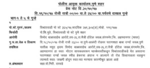 Accident due to speedbreaker in vishrantwadi