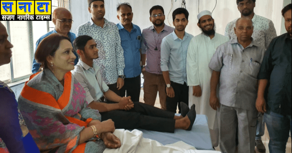 Wali Rahmani donated blood to the kondhwa 2019