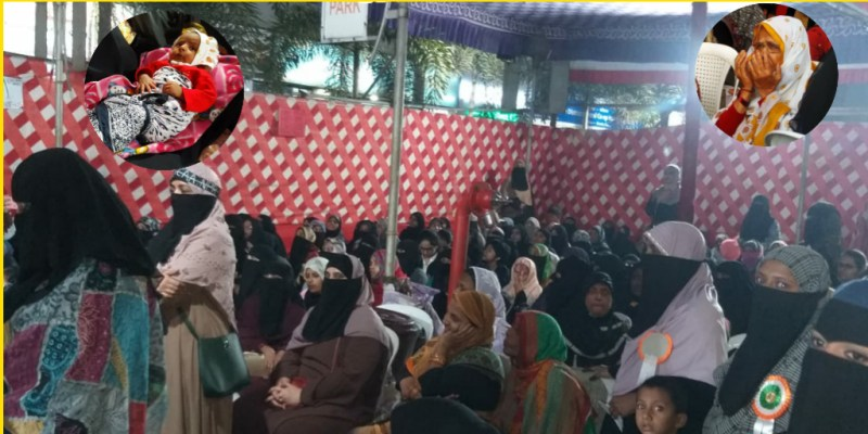 24-hour women's protest for the last 5 days in Kondhwa