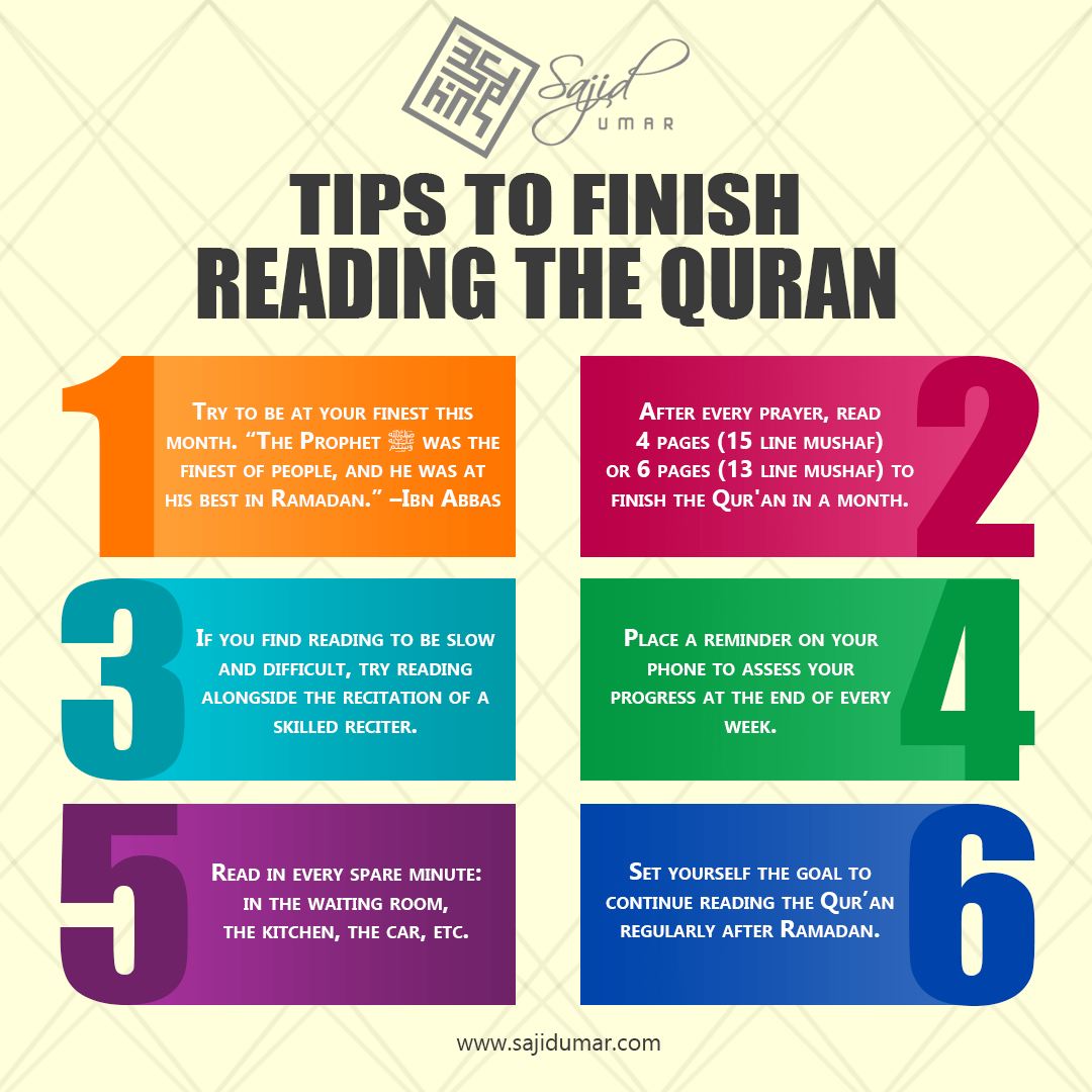 Tips to finish reading the Quran