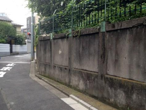音羽川暗渠ルートの陸軍の擁壁