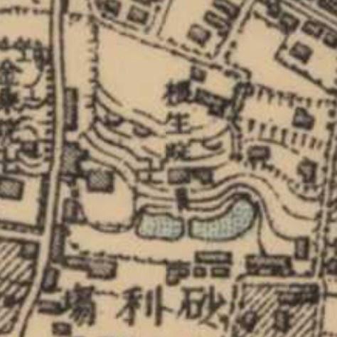 明治41-42年(1908-09年)1万分の1測図より根生院