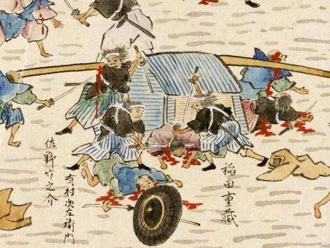 「桜田外の図」部分