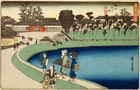 歌川広重「江都勝景 桜田外の図」