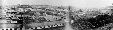古写真:愛宕山からのパノラマ南側(クリックで拡大)。