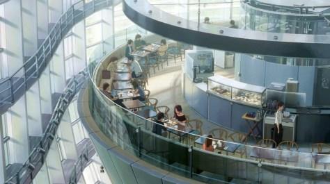 君の名は。国立新美術館。カフェ「サロン・ド・テロンド」。