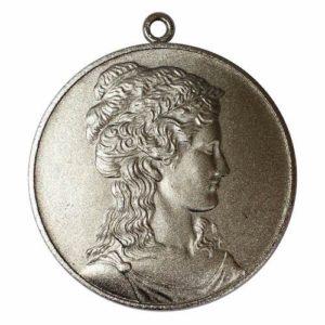 女神の銀製シルバーメダル