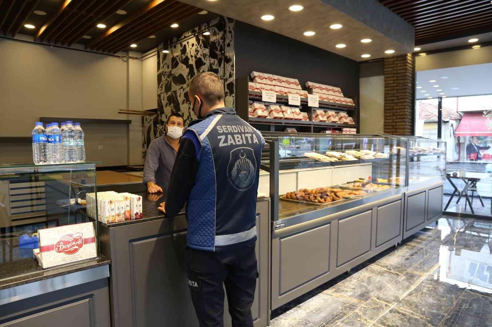 Serdivan'da fırın ve pastaneler denetlendi