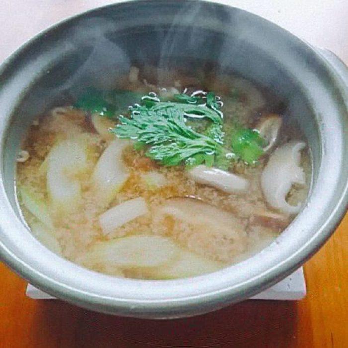 土鍋味噌汁