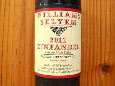 ウイリアムズ・セリエム バチガルピ・ワインヤード・ジンファンデル 2011年