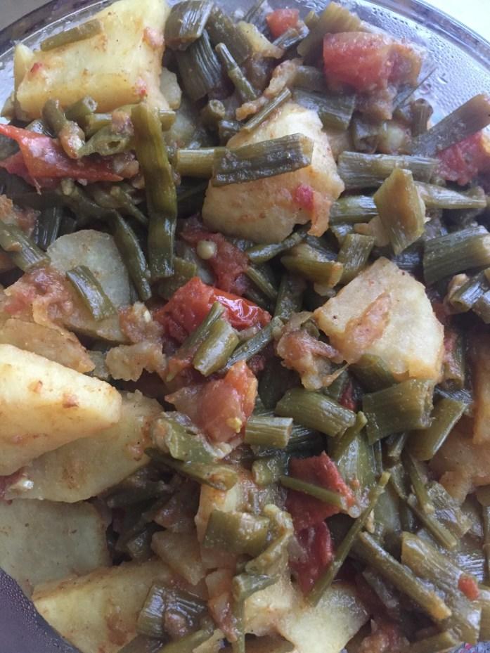 How To Cook Moongray Aloo Sabzi - Radish Pods and Potato Curry