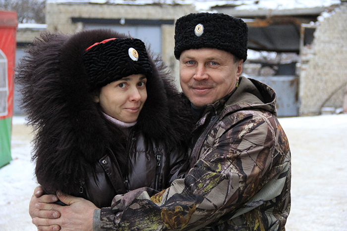 Yevgeny Ischenko con sua moglie