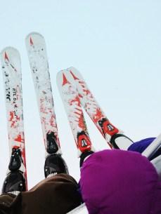 Big skis, little skis