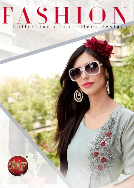 MF Fashion silk embroidery fancy ready to wear Kurtis collection manufacturer