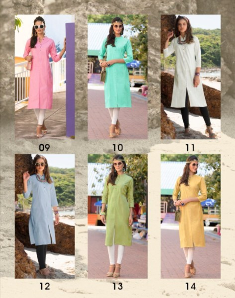 100 miles Libra Formal Cotton Kurtis wholesalers