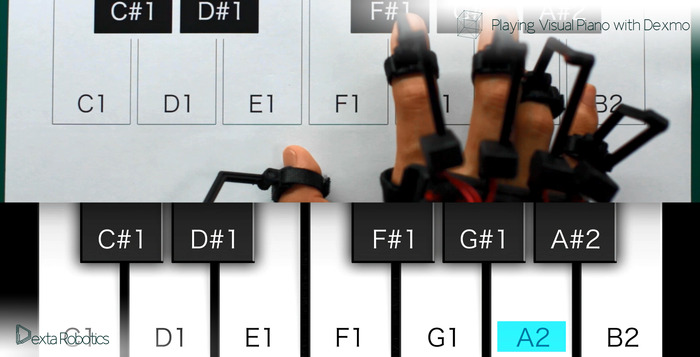 バーチャルピアノの演奏