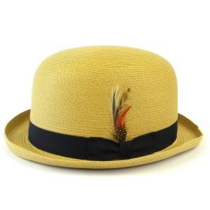 (ニューヨークハット) NEW YORK HAT #2024 SEWN DERBY [バンブー] ストローボーラー
