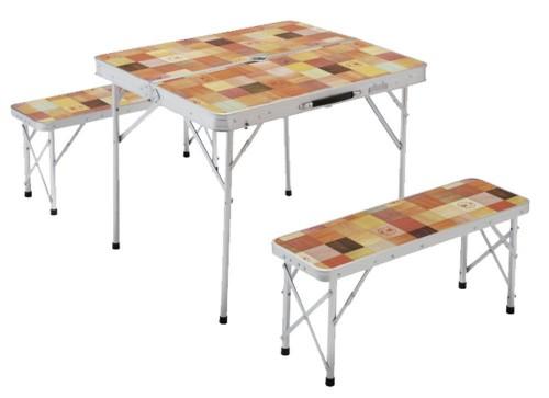 5.コールマン テーブル ナチュラルモザイクファミリーリビングセットミニ 2000014235