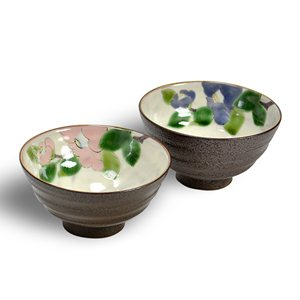 伝統本舗 夫婦茶碗 華釉椿
