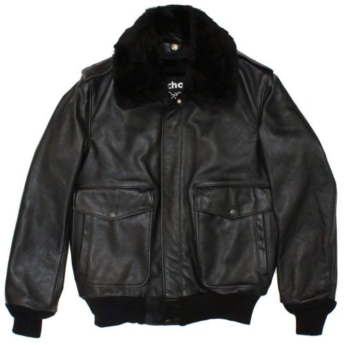 ショット(Schott) Naked Cowhide Leather Flight Jacket