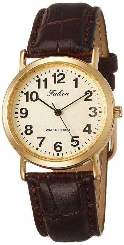2f7e08893d99bd レトロでクラシックなデザインの腕時計を探している方におすすめの製品。1000円台には見ない厚みがあるブラウンのベルトと、ゴールドの文字盤が特徴です。