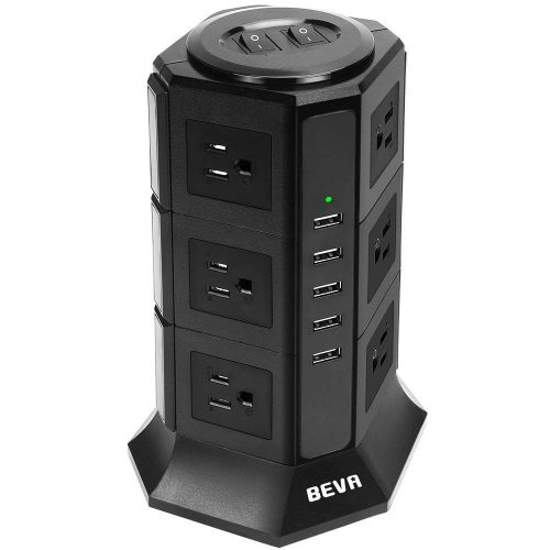 BEVA タワー式電源タップ TSPC-001S