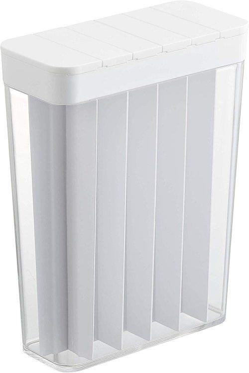 山崎実業 1合分別 冷蔵庫用米びつ プレート 1.8kg